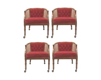Faux Bamboo Chairs-Set of Four