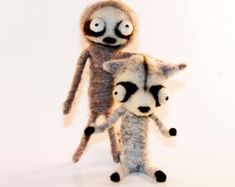 Needle Felted Creature Creeplie Ready to Ship