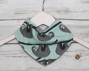 Bandana Bib~Sloth Love~ Reversible~ Baby Gift