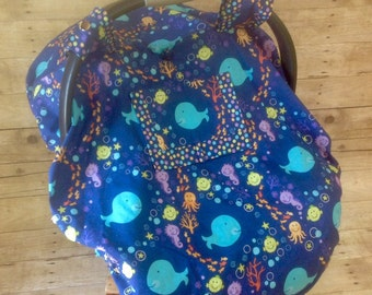 Under the Sea Car Seat Canopy/Foot Muff Set