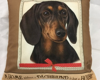 Dachshund Gifts, Dachshund Pillow, Decorative Pillows
