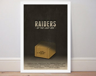 Movie poster 'Raiders of the lost ark' colour print
