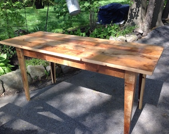 Reclaimed Wooden Desk with Hidden Drawer- Custom Built