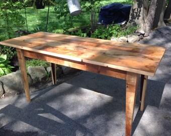 Reclaimed Wooden Desk with Hidden Drawer- Custom Built