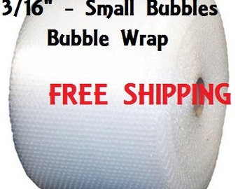 "3/16"" Bubble Wrap - 12"" Wide - Small Bubbles - Free Shipping - Bulk"