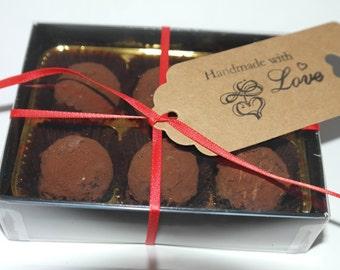 6 Handmade Salted Caramel Flavour Truffles