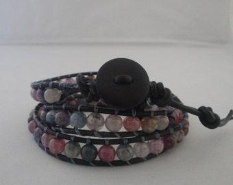 Fluorite Wrap Around Bracelet
