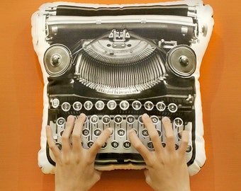 FunPrint Retro Typewriter pillow