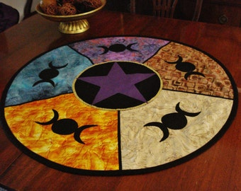 Lined Altar Cloth with Triple Moons