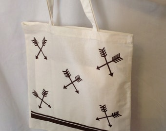 Crossed Arrows Cotton Tote