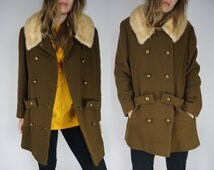 Vtg 60s Mod Duster Jacket with Fur Collar by Miller & Rhoads    Edie Sedgwick Almost Famous Penny Lane Duster Coat    Free Shipping in USA