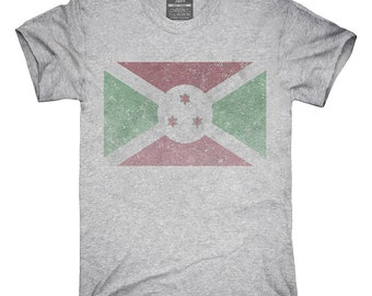 Retro Vintage Burundi Flag T-Shirt, Hoodie, Tank Top, Gifts