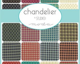 Fabric – Charm Squares – Moda – Chandelier – Studio M – 42 x 5 inch squares
