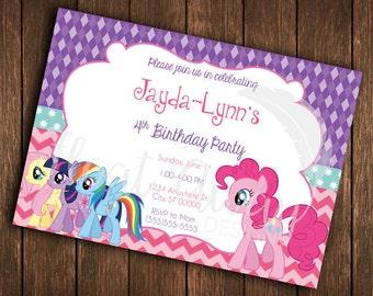 My Little Pony Inspired Birthday Invitation