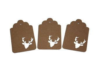 Deer Head Gift Tags