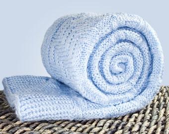 baby boy blanket knit blanket baby blanket handmade blanket newborn blanket baby bedding blanket nursery kids