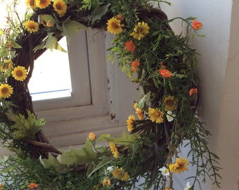 If Daisies Could Dance Wreath