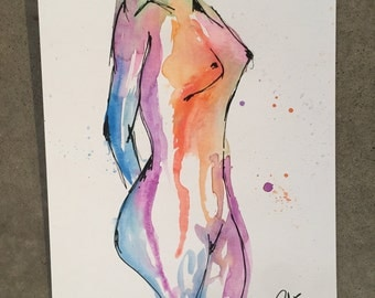 Colorful woman 3