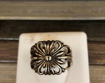 Templar handmade steel flower ring