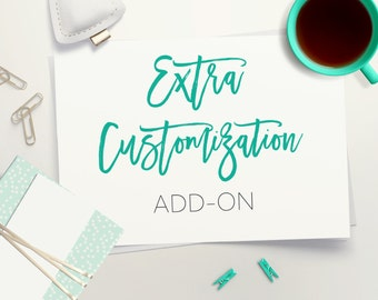 Extra Customization Add-On // Customize My Invite // Custom // Font Change // Color Change // Extras