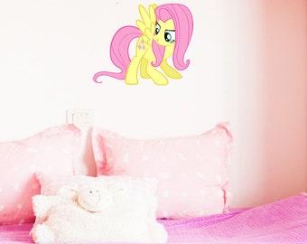MY Little Pony Fluttershy girls boys kids bedroom vinyl decal wall art sticker gift new 2016