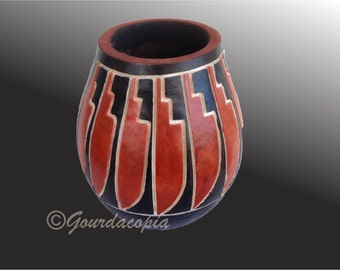 Gourd Art Native American Style Pot