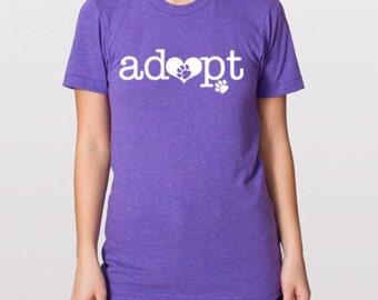 Adopt  - Fur Baby Adoption Tee
