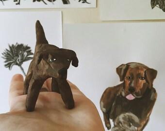 Custom Clay Imperfect Pet Portrait