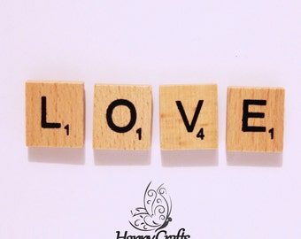 Wooden Letter Magnet Word Love