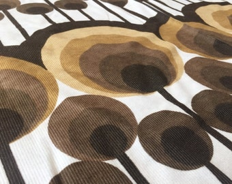 German vintage fabric 50cmx115cm circle Panton Brown