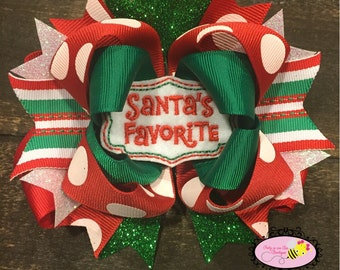 Christmas Hairbow ~ Santa's Favorite Hairbow~ Santa Baby