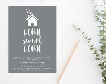 Housewarming Party, Housewarming Invitation, Housewarming Invite, Home Sweet Home Invitation