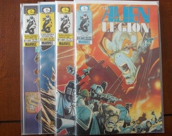 The Alien Legion Epic and Marvel Comic Book Lot, Issues 2,3,4 &5
