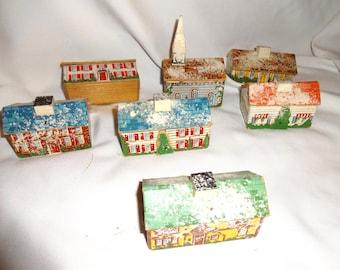 Christmas village houses vintage