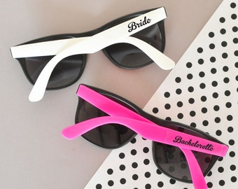 Bachelorette Party Sunglasses Hot Pink & White Bachelorette Party Sunglasses (EB3109) - SET of 6