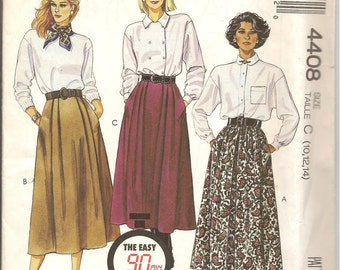 80s Front Pleated Side Pockets Skirt VintMcCalls 4405 Sewing Pattern Size 10|12|14 UNCUT