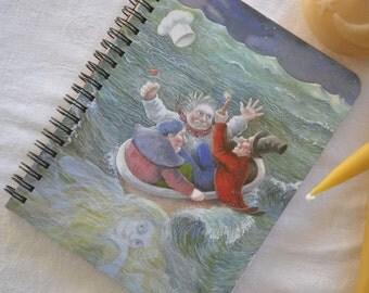 Nursery rhyme journal, planner, art journal, repurposed book