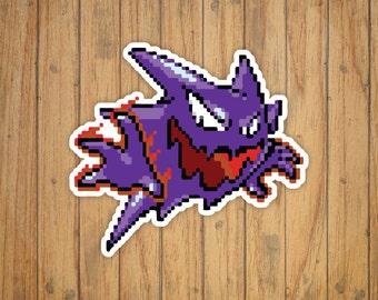 8-Bit Haunter Pokemon Decal/Sticker