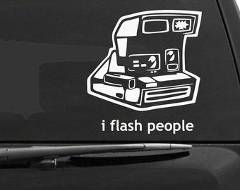 I Flash People Car Decal (1648-CAR)