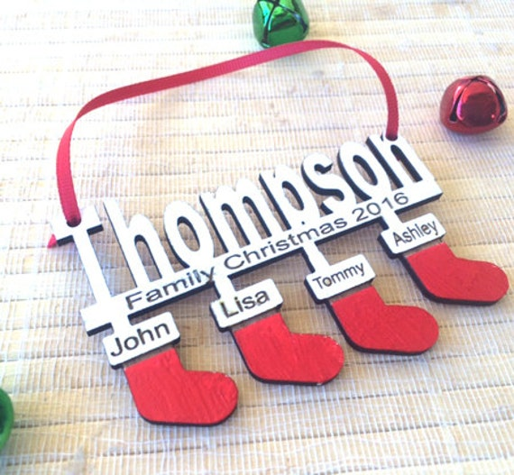 family ornament, personalized family ornament, family christmas ornament, family christmas gifts, family christmas stockings
