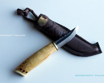 62mm Handmade Survival Hunting/Camping/ Bushcraft Knife-FINNISH CARBON STEEL