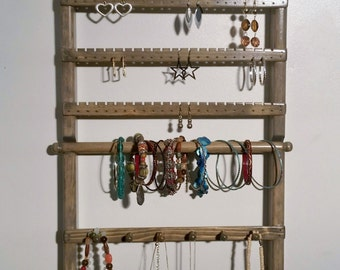 Earring Holder, Wall Mounted, Jewelry Organizer, Jewelry Storage, Jewelry Holder, Necklace Holder, Jewelry Stand, Bracelet Display, Jewelry