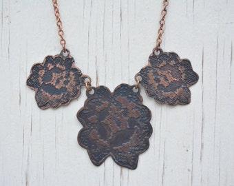 Etched Bib Necklace