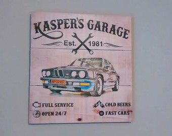 Custom Garage Sign - Garage Sign - Personalized Garage Sign - Car Sign - Man Cave Sign - Man Cave Decor - Gifts for Dad - Gifts For Him