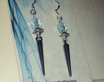 Black Acrylic Spike dangle earrings