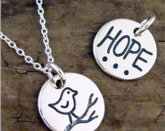 Silver Hope Pendant Necklace