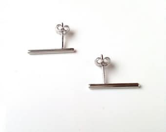 Earrings features Silver 925 - earrings small lines, sticks, rods - stick earrings 925 silver