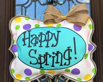 Happy Spring door hanger