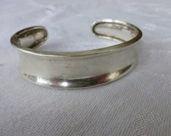 Sterling Silver open back bangle