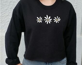 Flower Power John Green Daisy Sweater, crop top, grunge, indie, hipster tumblr